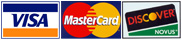 Visa Master Card and Discover Credit Cards Accepted at PTI